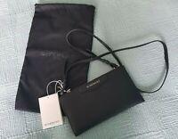 Givenchy AUTH Black Grained Leather Antigona Crossbody Pouch Clutch Bag
