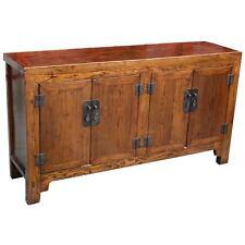 Natrual Elm Wood Sideboard Buffet - Original Chinese Antique Furniture  (22-012)