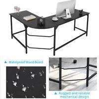 Office Desk Black L-Shape Corner Computer PC Laptop Table Home Study Workstation