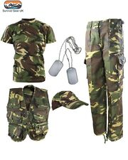 Kids Army DPM Camo Fancy Dress Children's Soldier Outfit Uniform FREE DELIVERY