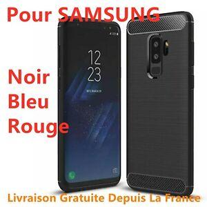 Samsung Galaxy S9 S8 S10 A10 A20e A40 A50 Cover Custodia Effetto Carbonio Nero