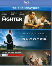 The Fighter/Shooter/Four Brothers (Blu-ray Disc, 2013, 3-Disc Set) NEW