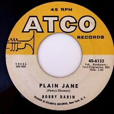 """BOBBY DARIN: PLAIN JANE / WHILE I'M GONE (7"""" 45RPM ATCO 6133) VG++ / EXCELLENT!"""