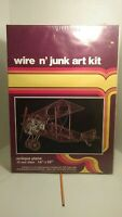 Vtg Wire N Junk Art kit Antique Plane Wire Art Picture Airplane Kit NEW 1983