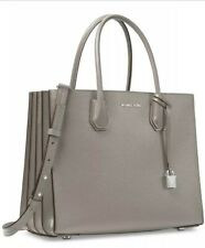 NWT MICHAEL KORS MERCER LARGE ACCORDION CONVERTIBLE LEATHER TOTE - PEAR GREY