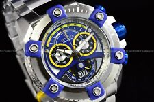 Invicta 63mm Reserve Grand Octane Arsenal Joker Face Swiss Silver Blue SS Watch