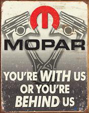 Mopar - Behind Us Tin Sign - 12.5x16