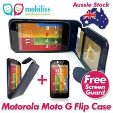 PU Leather Flip Case Cover with Wallet Card holders for Motorola Moto G + SP