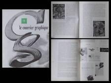 LE COURRIER GRAPHIQUE n°78 1955, HENRI DE WAROQUIER, TYPOGRAPHIE, ART INDIEN