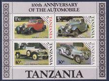 BLOC   Tanzanie  100 aire de l' automobile  Rolls Royce   num 42 **