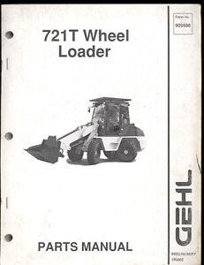 2002 GEHL PARTS MANUAL 721T WHEEL  LOADER
