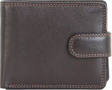 Visconti Brown Leather 2 note sections 6 card coin purse id window wallet HT10