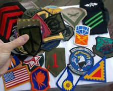 LOT Vintage Military Patches Army Navy Stripes Swords Wings Blue Angels Eagle NR