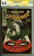Amazing Spider-Man #63 Signed Stan Lee John Romita CGC 8.0