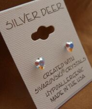 HYPOALLERGENIC Post Earrings Lead and Nickel Safe Heart Shape Crystal in AB
