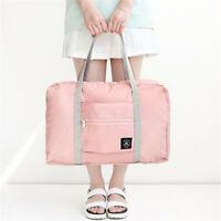Lady Expandable Foldable Large Travel Clothing Bag Sport Shopping Shoulder Bag G