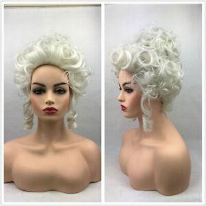 Marie Antoinette Costume Wig Women Grey White Short Heat Resistant Fiber wig