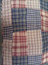 Charles Street Boys Plaid Checkered Dragons Castles Standard Quilted Pillow Sham