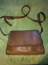 Fossil Vintage Leather Messenger Crossbody Bag Brown Saddle Embossed Flap (C)