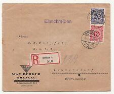 Lettre R Breslau 4 518 Max Berger Breslau Wrocław Polska Silésie 1924