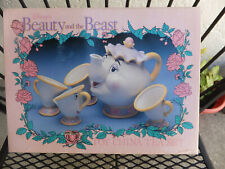Disney Vintage Mrs Potts and Chip Beauty and the Beast Toy China Tea Set MIB