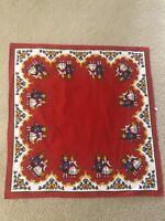 Vintage SWEDISH/SCANDINAVIAN 28 x 29 Linen Tablecloth 100% Baumwolle