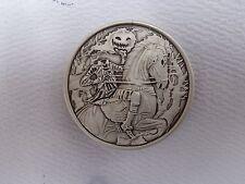 2 oz. Headless Horseman round .999 fine silver antique finish
