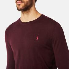 """Ralph Lauren Polo mens merino sweater jumper true slim fit xxl £125 25"""" ptp xmas"""