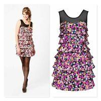 REVIEW Womens Size 14 Floral Print Bouquet Dress