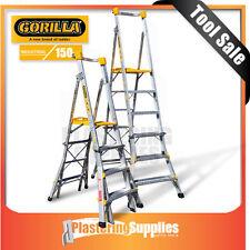 Gorilla Platform Ladder 1.2-1.8m Height Adjustable 150kg PL0406-I