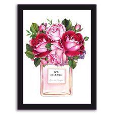 Perfume Art Fashion Art Wall Art Floral Art Floral Print Perfume Bottle Art A4