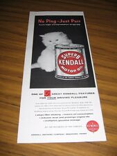 1957 Print Ad Kendall SuperB Motor Oil Cute Kitten Bradford,PA