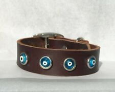 Evil Eye Dog Collar, eco-friendly, upcycled environmentally sustainable, SM