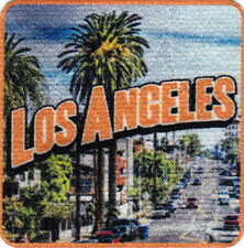 LOS ANGELES Iron On Printed Patch California