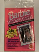 Vintage 1990 Barbie Trading Cards #1188 Ten Count Card Package W/8 Puzzle Pieces