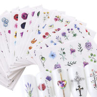 24Pcs Nagel Wasser Sticker Flower Nail Art Transfer Stickers Maniküre