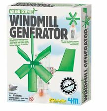 (CLASSPACK OF 12) TOYSMITH 3649 Green Science Windmill Generator DIY SCIENCE KIT