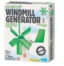 (CLASSPACK OF 12) TOYSMITH 3649 Green Science Windmill Generator DIY SCIENCE KIT