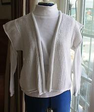 La Redoute white cotton waistcoat cap sleeve size 10 to 12 waist length