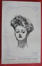 C.DANA GIBSON GLAMOUR ARTIST Postcard c.1905 FROM PICTORIAL COMEDY LADY STUDY