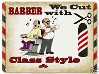 BARBER SHOP funny humor VINTAGE style metal SIGN ART  RETRO PLAQUE 012