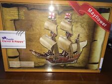 Clever & Happy 3D Puzzle Paper Model Mayflower Three-Dimensional DIY Jigsaw