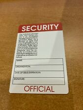 Novelty Security Identification Card - Vertical