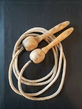 Vintage Jump Rope Wooden Handles with Ball Bearings Comfortable Grip