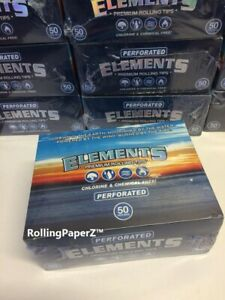 FULL BOX 50 Packs of ELEMENTS Perforated ROLL UP TIPS/ 50 per Pack/ 2500 Total