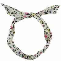 Retro Wire Headband Head Hair Band Wrap Scarf Various Style Dot Floral