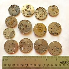 4 Ounce Pocket Watch Plates Silver Steampunk Parts Wheels Gears Watchmakers Lot