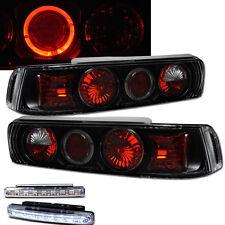 1990-1993 ACURA INTEGRA JDM REAR BRAKE TAIL LIGHTS BLACK+LED BUMPER RUNNING DRL