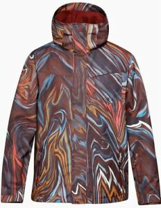 NEW!! Quiksilver Travis Rice Mission Printed Insulated Snowboard Jacket size S
