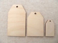 10 x Wooden Luggage Tags Label Tags Jar Labels Gift Tags Traditional Top (4cm)